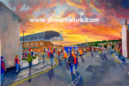 selhurst park going to the match Print A3 Size